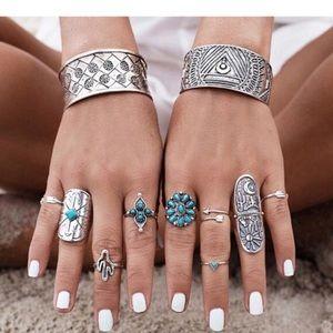 Jewelry - 9 peice BOHO ring set